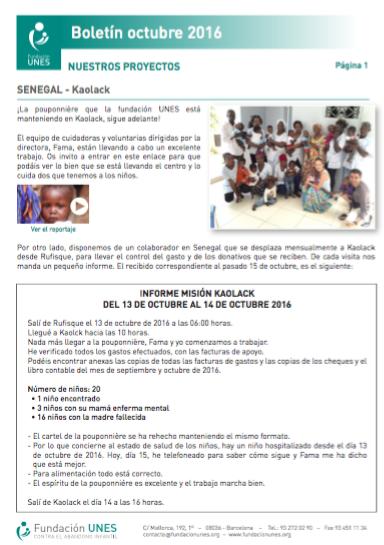 Boletín Octubre UNES 2016
