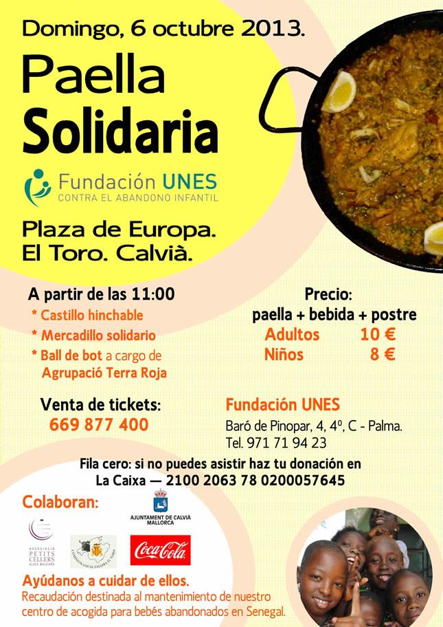 Paella Solidaria Fundación Unes